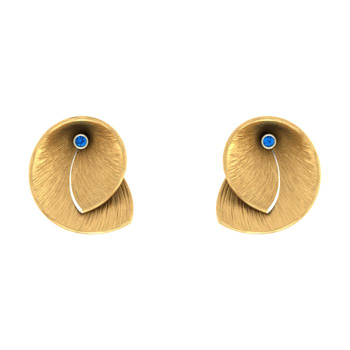 Pear Stud Gold Earring