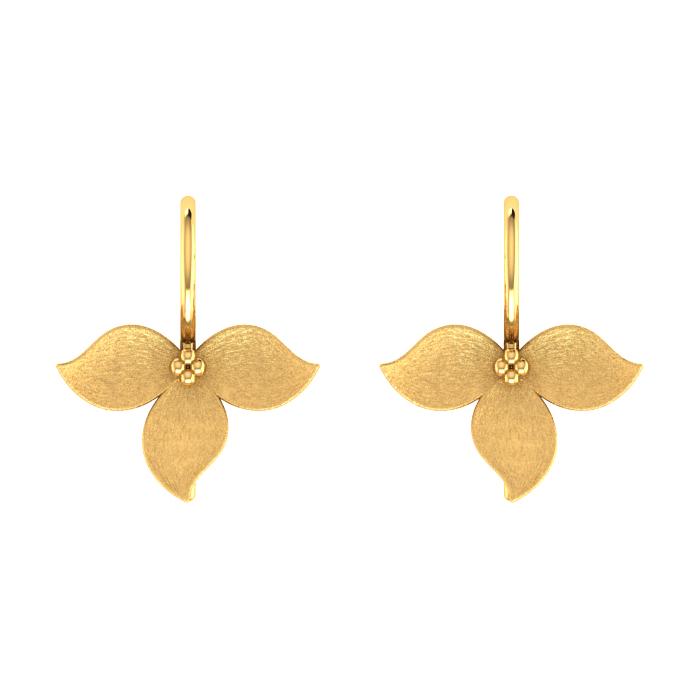 Zirconia Hoop Gold Earring