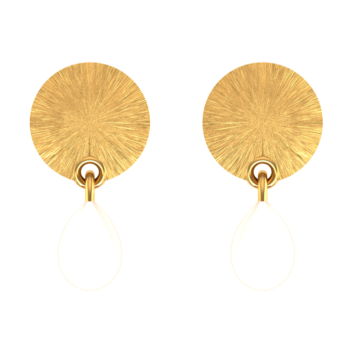 Tear Drop Gold Earring