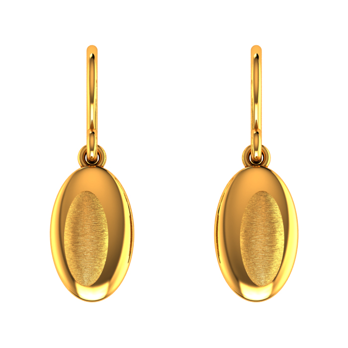 Linear Drop Gold Earring