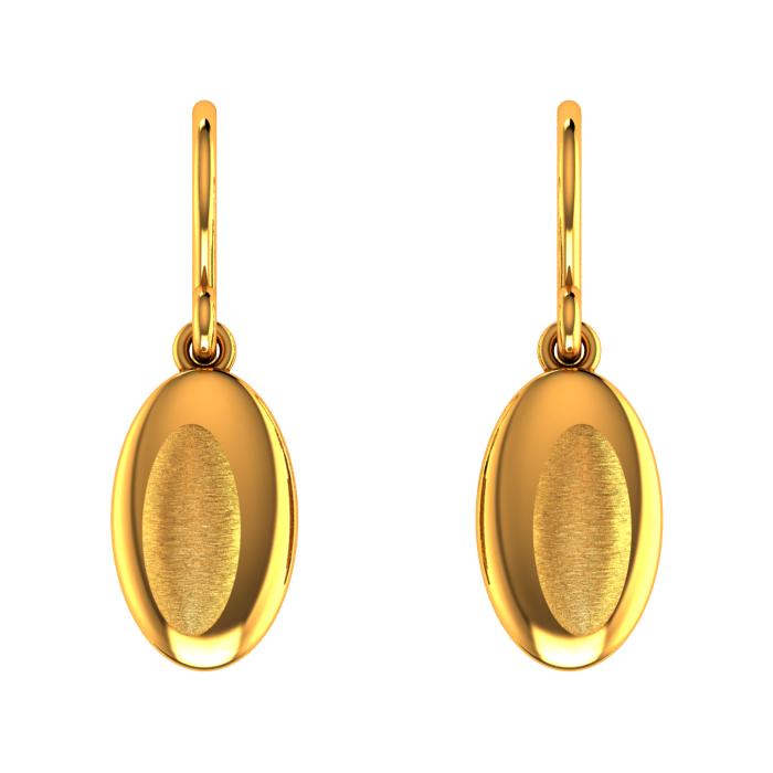 Linear Drop Gold Earring