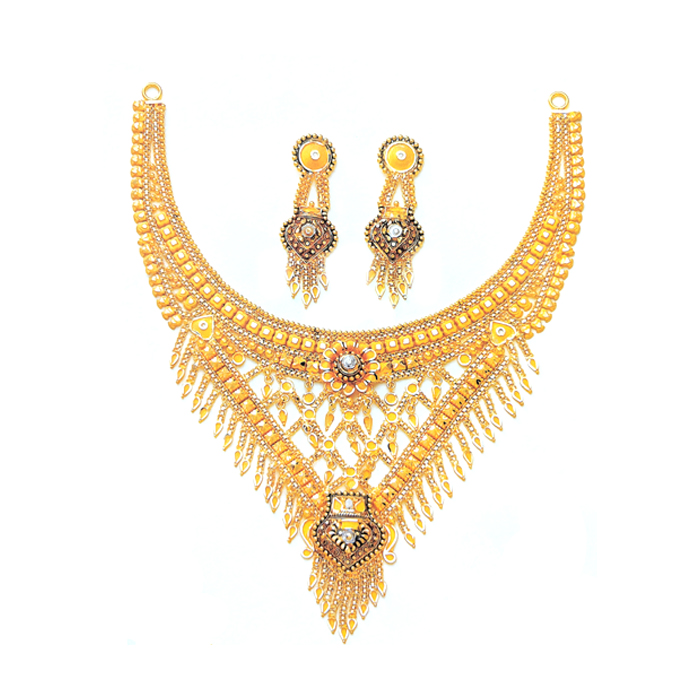 Sheen Gold Necklace Set