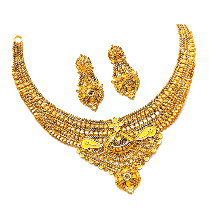 Tannu Gold Necklace Set