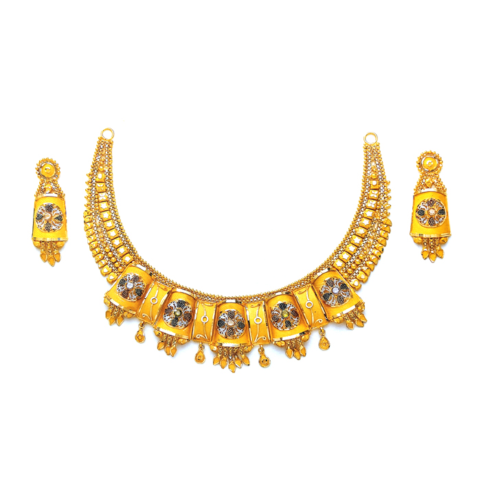 Aayna Gold Necklace Set