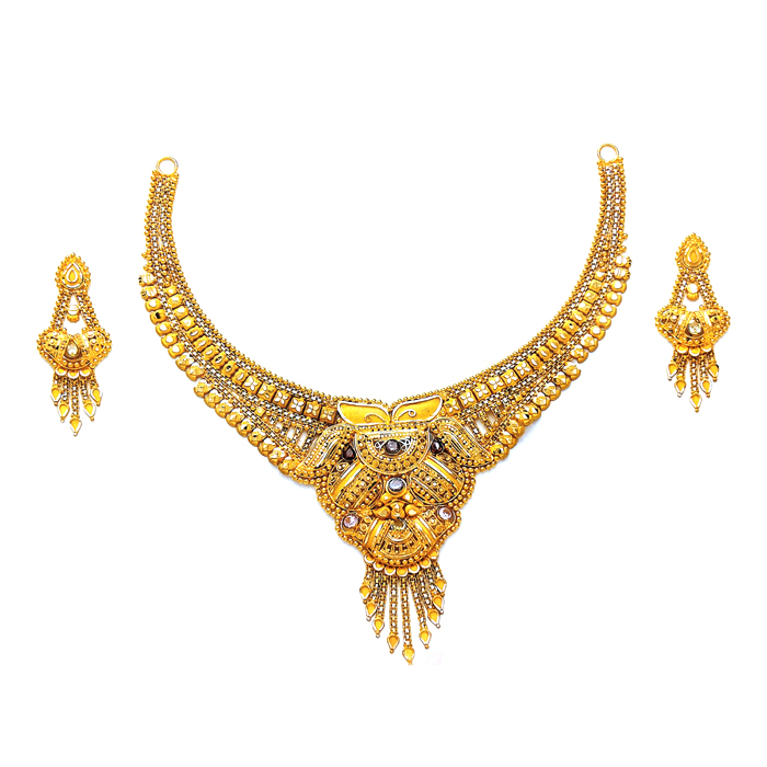 Ainrah Gold Necklace Set