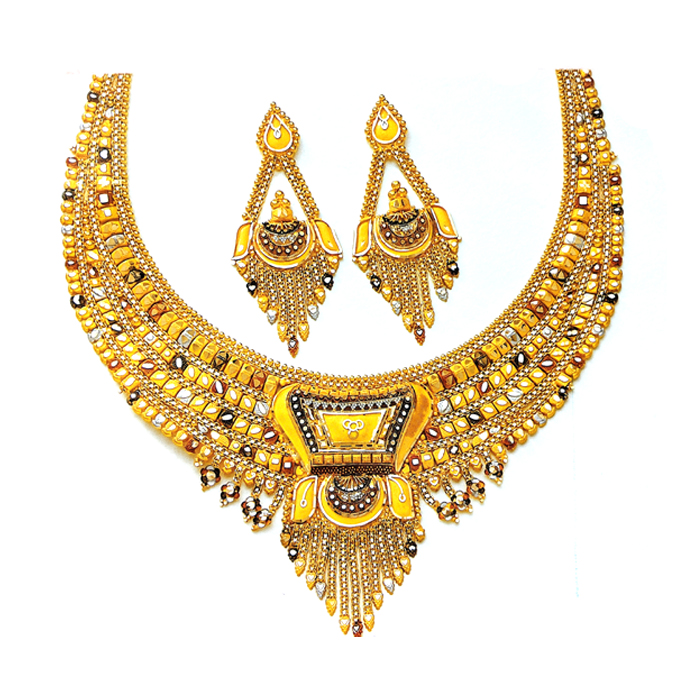 Flair Gold Necklace Set
