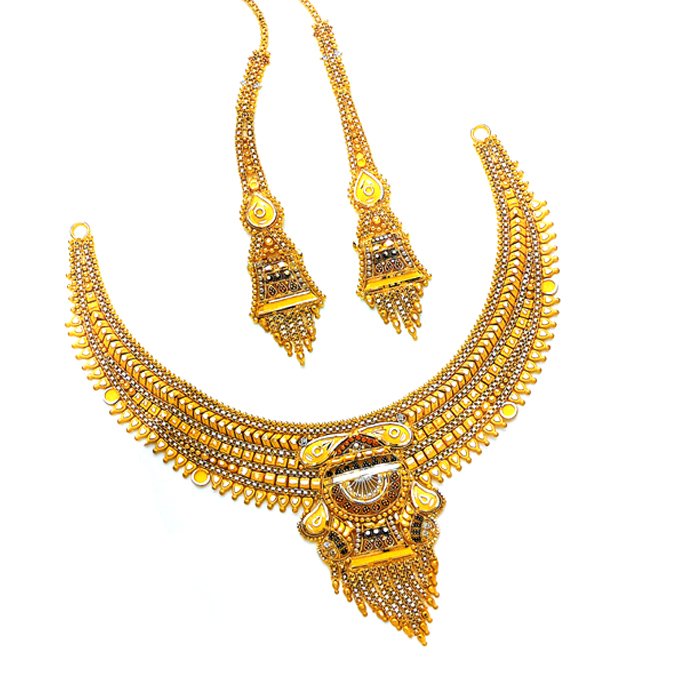 Shiny Gold Necklace Set
