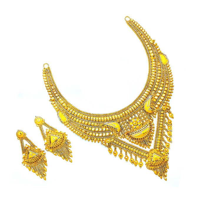 Madhavi Gold Necklace Set
