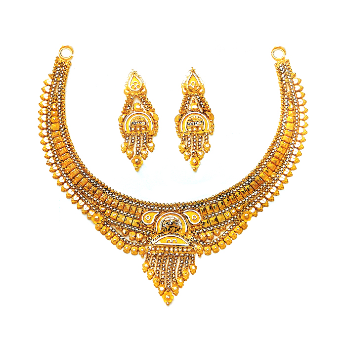 Mansi Gold Necklace Set
