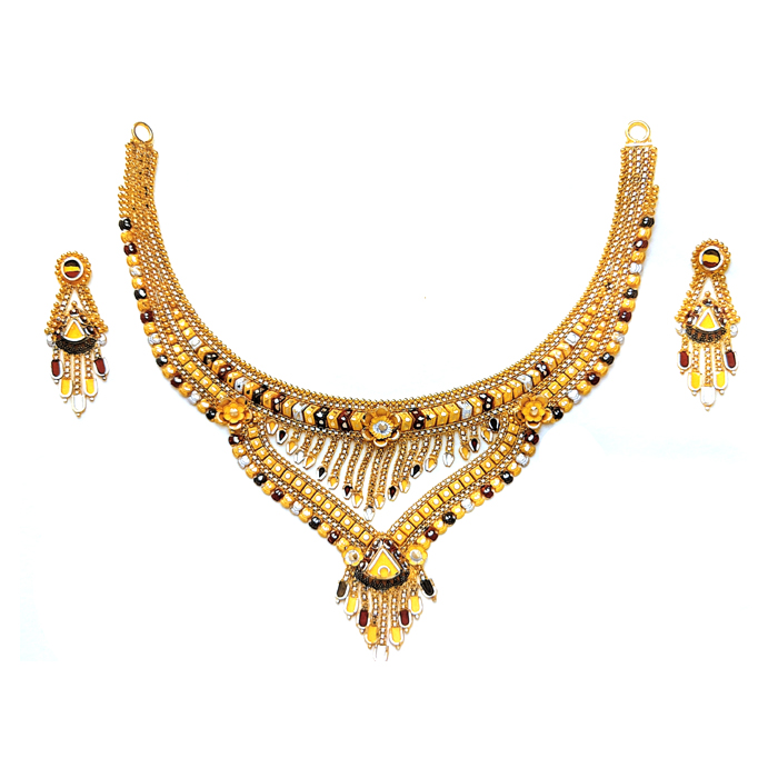 Yashsvini Gold Necklace Set
