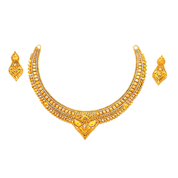 Janvi Gold Necklace Set