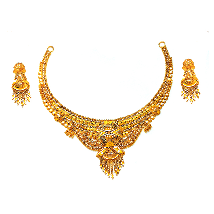 Aahan Gold Necklace Set