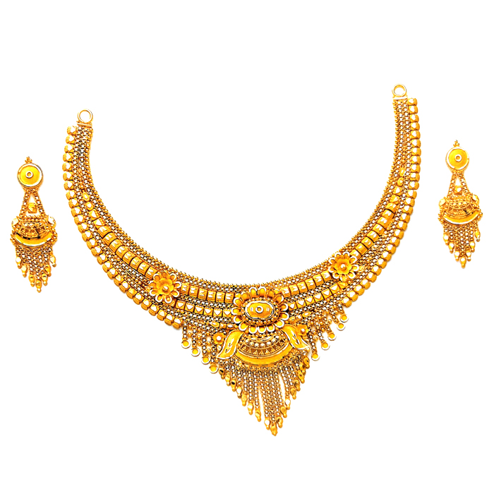 Jannat Gold Necklace Set