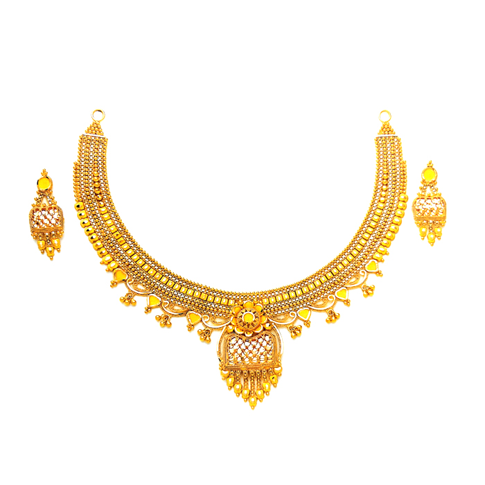Tishna Gold Necklace Set