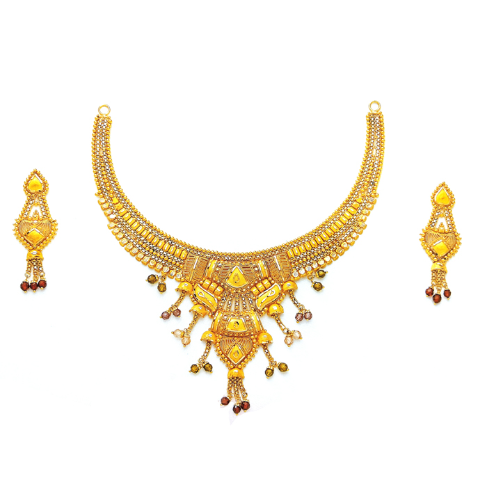 Mellora Gold Necklace Set