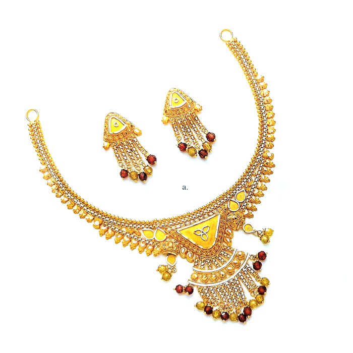 Aishwarya Gold Necklace Set