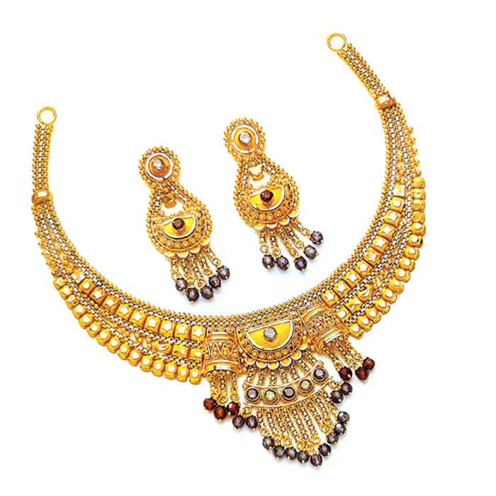 Manasvi Gold Necklace Set
