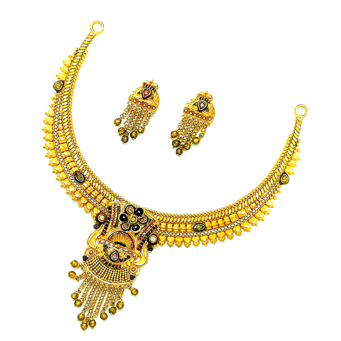 Drishti Gold Necklace Set