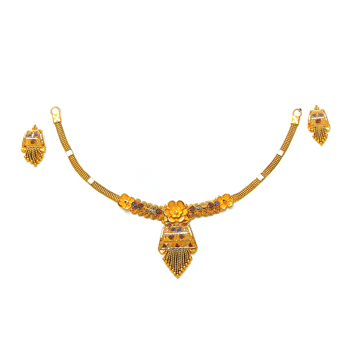 Flora Cutout Gold Necklace