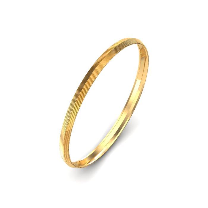 Fine Line Gold Kada