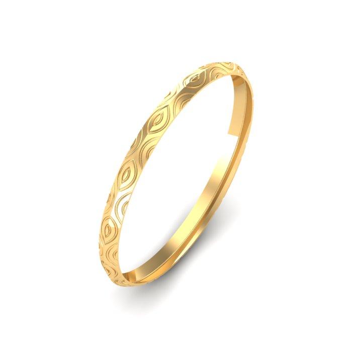 Designed Gold Kada