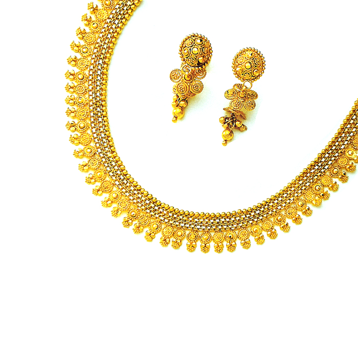 Chanrdkanta Gold Necklace