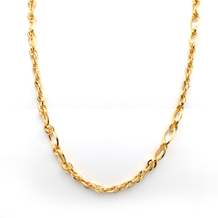 Firm Interlacked Gold Chain