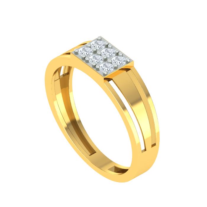 Sapphire Style Diamond Ring