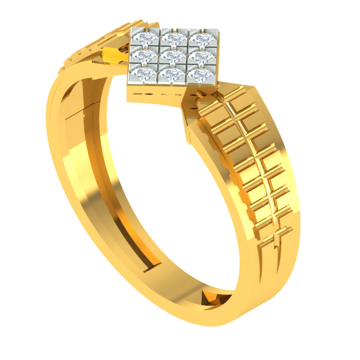 Voguish Square Diamond Ring