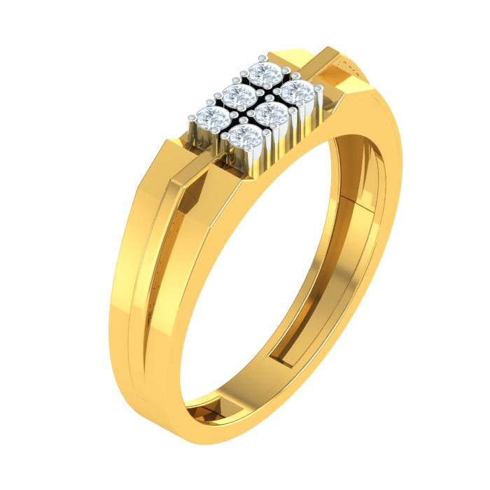 Cluster Of Six Diamond Ring