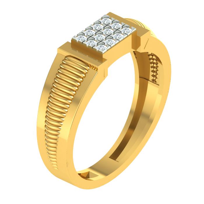 Linear Diamond Ring