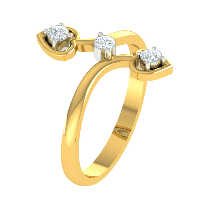Triplet Diamond Ring