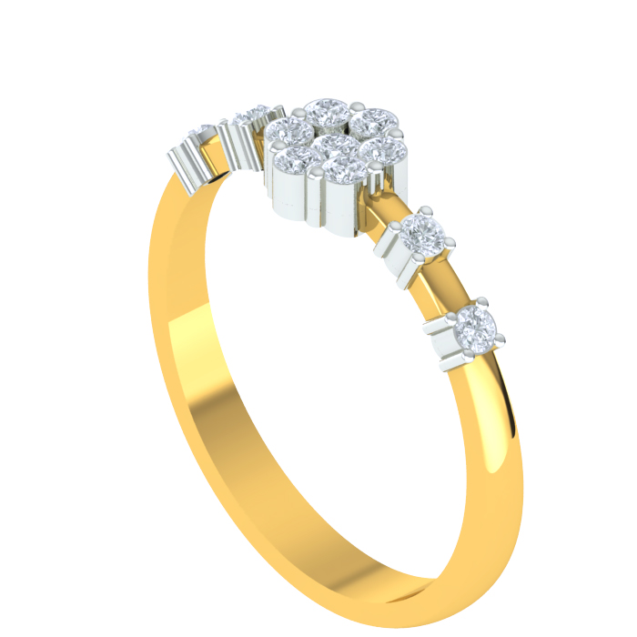 Trendy Eva Diamond Ring