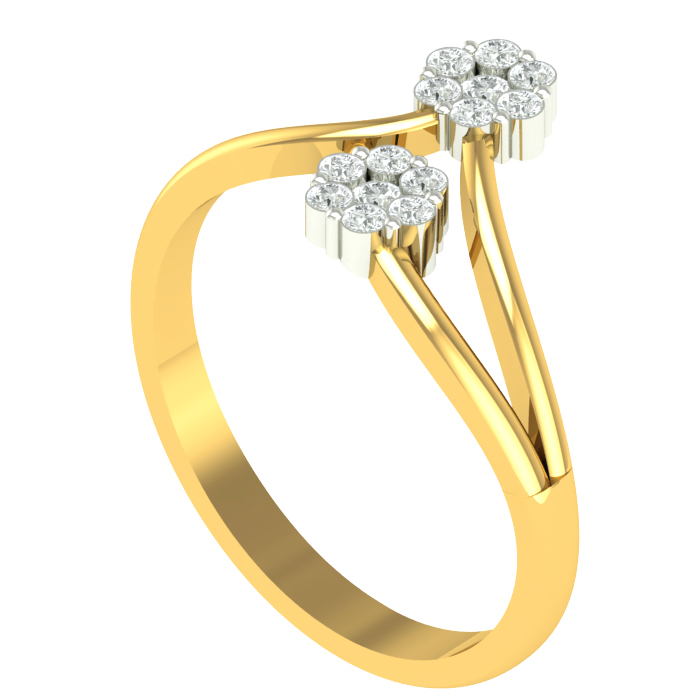 Double Deo Diamond Ring
