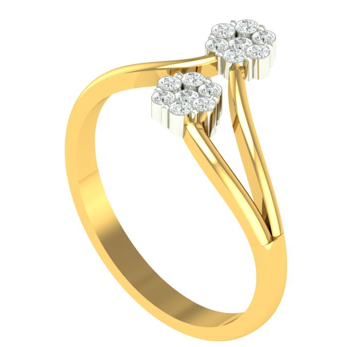 Double Deo Diamond Ring