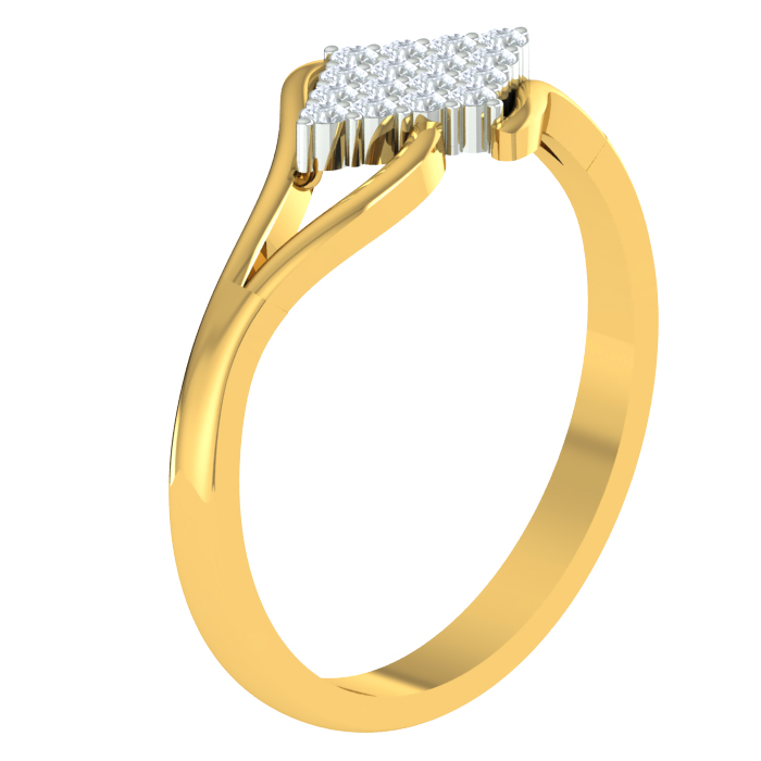 Twine Cluster Diamond Ring