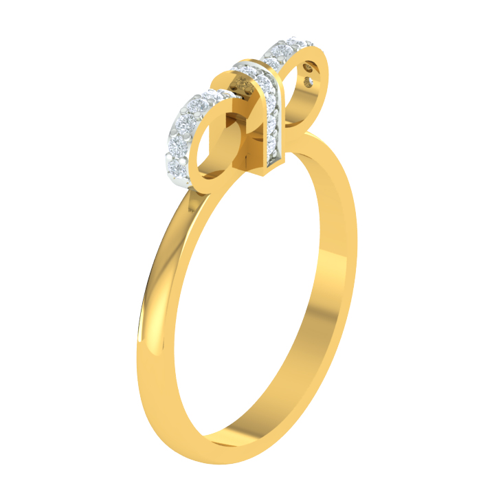 Evika Diamond Ring is a Certified Gold Ladies Ring In 18KT Gold (2.500 gms) with Diamonds