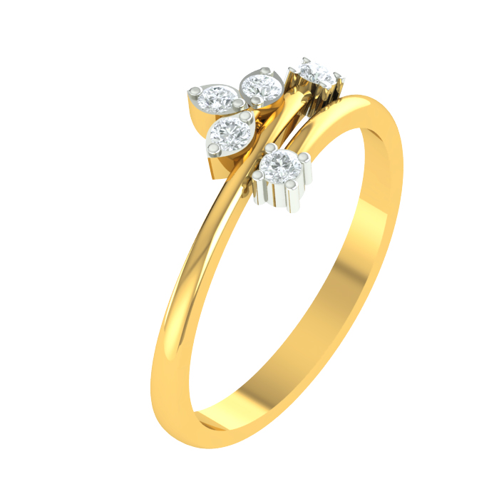 Maya Leaf Diamond Ring