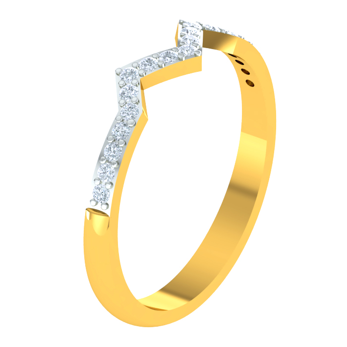 Isha Wave Diamond Ring