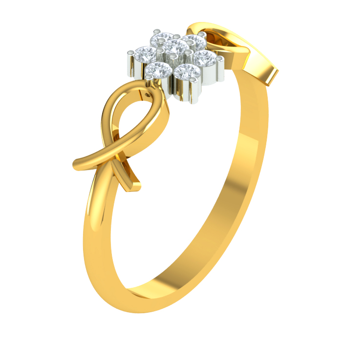 Knotted Diamond Ring