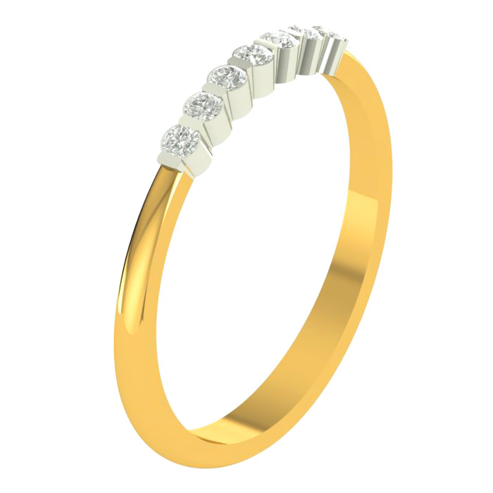 Culster Row Diamond Ring