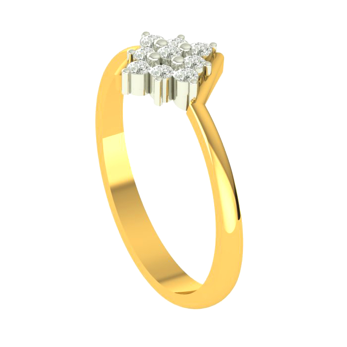 Culster Of Square Diamond Ring