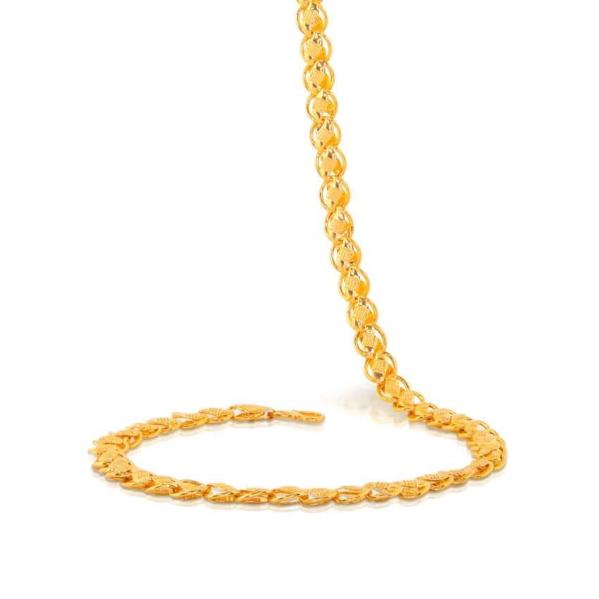 Gold Lotus Chain