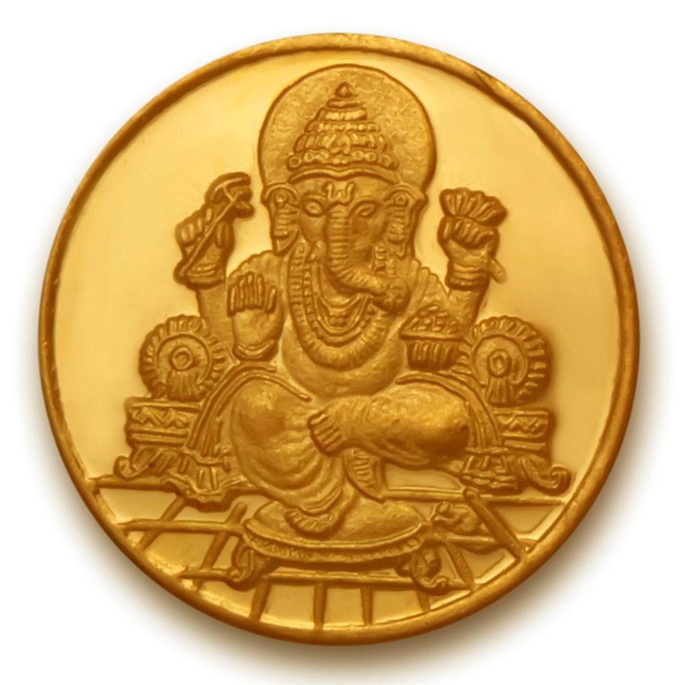 Ganesha Om Gold Coin