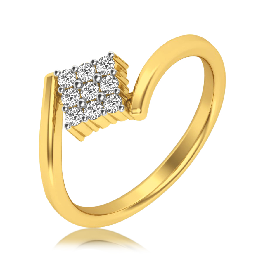 Squared Kite Diamond Ring
