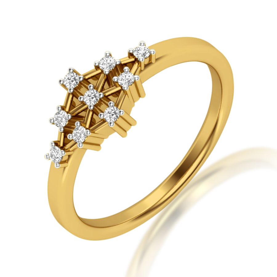 Sparkling Kite Diamond Ring