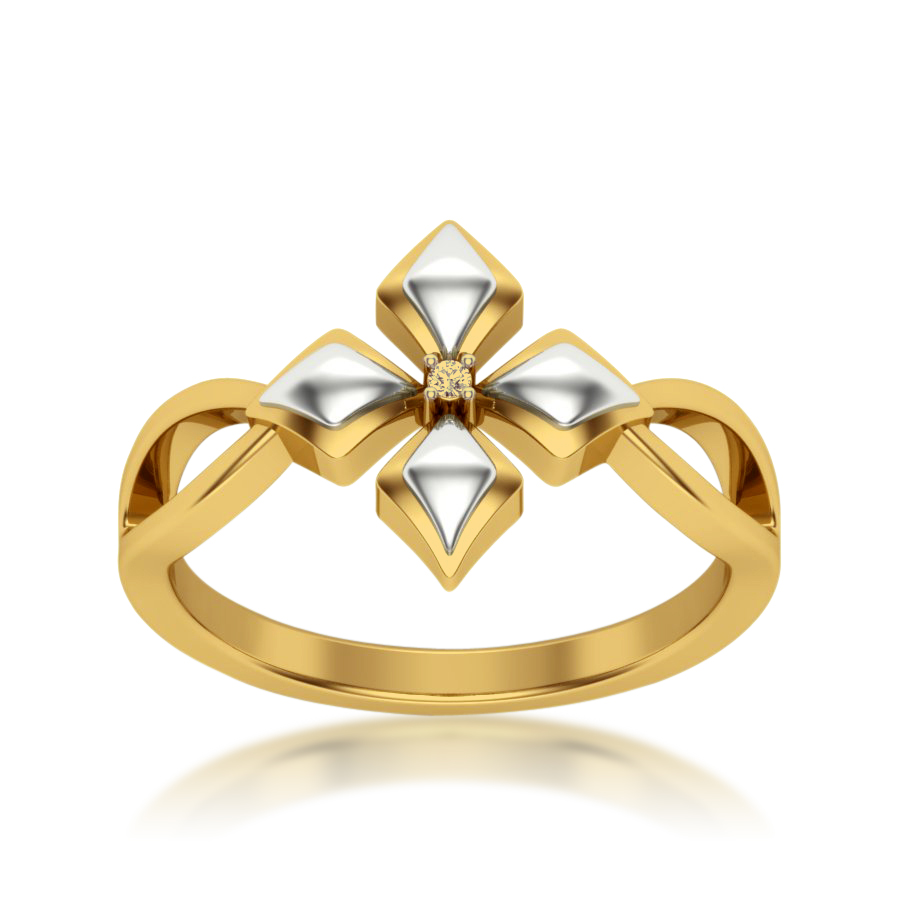 Elegant Petal Diamond Ring