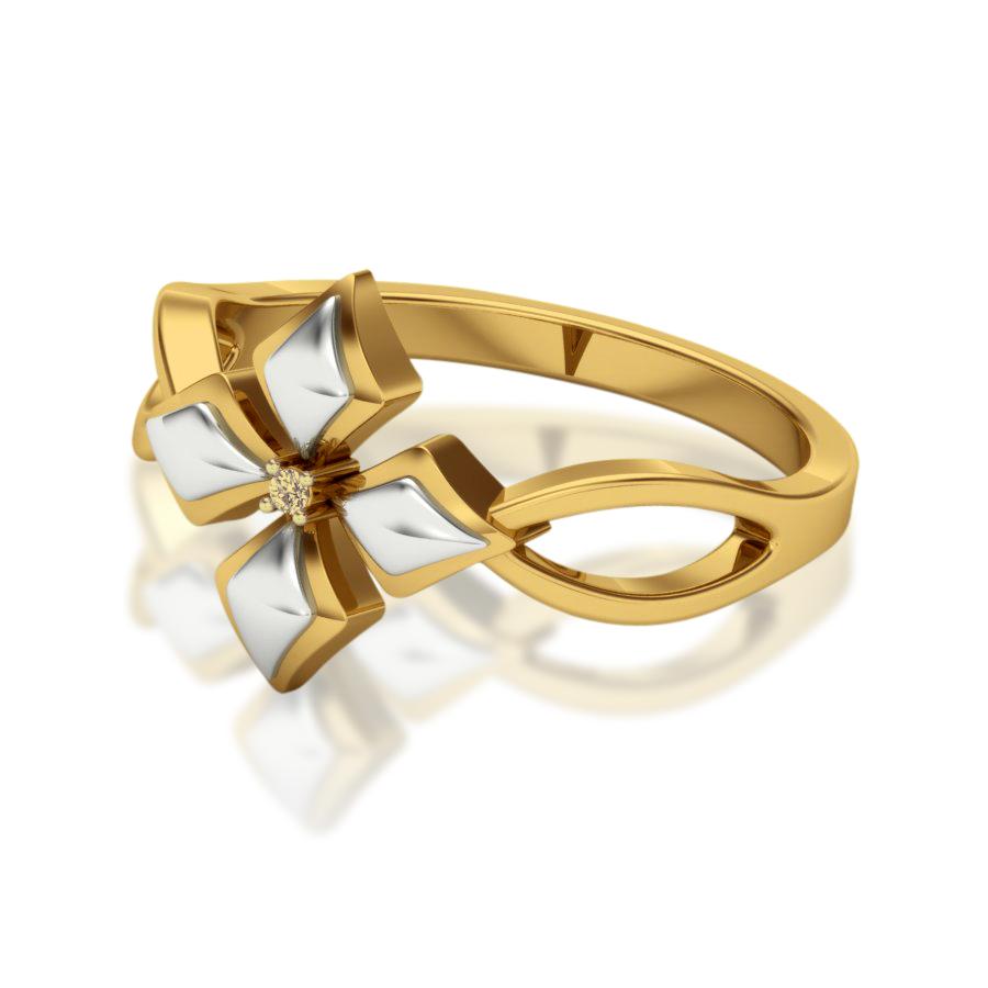 Elegant Petal Diamond Ring