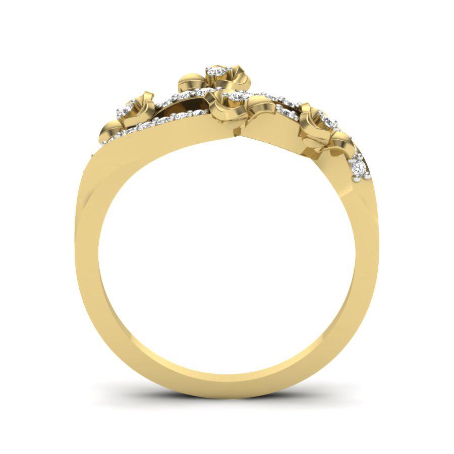 Floral Garden Diamond Ring