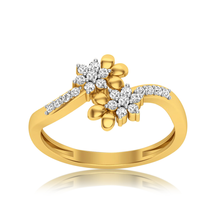 Gleaming Flowers Diamond Ring